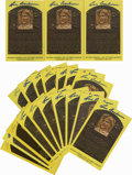 Autographs:Post Cards, Lou Boudreau Signed Gold Hall of Fame Plaques Lot of 20. Perennialpennant-winning manager Lou Boudreau is the subject of t...