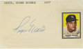 Autographs:Index Cards, Roger Maris Signed Index Card with Funeral Service Program andPhotograph. The super slugger of the 1960s Roger Maris is th...