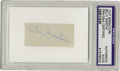 Autographs:Letters, Billy Martin Cut Signature PSA Authentic. Here we present a nice coveted cut signature courtesy of the firecracker manager ...