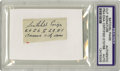 Autographs:Letters, Satchel Paige Cut Signature PSA Authentic. Clipped from a mailingenvelope, this example of the ageless wonder Satchel Paig...