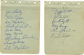 Autographs:Others, 1920s-40s St. Louis Cardinals Stars Signed Album Pages Lot of 2. Atotal of fifteen signatures appear on the pair of album ...