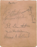 "Autographs:Others, 1929 St. Louis Cardinals Team-Signed Album Page. This 4.5x5.5""album page has been adorned with six vintage signatures from..."