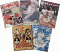 Autographs:Others, 1975-94 St. Louis Cardinals Signed Official Yearbooks Lot of 21,Unsigned Lot of 10. Thirty-one publications that we see he...
