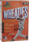 Autographs:Others, Albert Pujols Signed Wheaties Box. Continuing what has been a longstanding tradition for the star athletes of this country,...