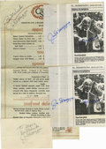 Autographs:Others, Joe DiMaggio Signed Ephemera Lot of 4. The Yankee Clipper hereprovides six high quality exemplars of his coveted Hall of ...