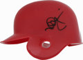 Autographs:Others, Mark McGwire Signed Mini Helmet. Big Mac applies a perfect sharpiesignature to the little helmet we see here. Riddell mini...