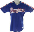Baseball Collectibles:Uniforms, 1980s Charlie Hough Batting Practice Worn Jersey. The Hawaiian knuckleballer Charlie Hough put up some great years for the ...