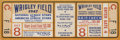 Baseball Collectibles:Tickets, 1947 MLB All-Star Game Full Ticket. Stunning example of a fullticket from the 1947 MLB All-Star Game held at Chicago's Wri...