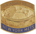 Baseball Collectibles:Others, 1969 New York Mets World Series Press Pin. Here we see classicpress pin from the first World Series that the New York Mets...