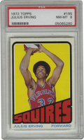 Basketball Cards:Singles (1970-1979), 1972-73 Topps Julius Erving #195 PSA NM-MT 8. The dominantplayer of his era redefined the way that the game of basketb...