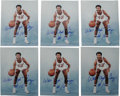 "Autographs:Photos, Walt Frazier Signed Photographs Lot of 6. Hall of Fame ball thiefWalt ""Clyde"" Frazier revolutionized the art form of steal..."