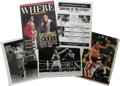 Boxing Collectibles:Autographs, Signed Boxing Ephemera Lot of 5. Some of the beloved pugilists fromrecent boxing history are represented here by this fant...