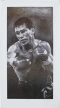 Boxing Collectibles:Autographs, Julio Cesar Chavez Signed Lithograph. One of the finest fighters of the modern era is the subject of this wholly impressive...
