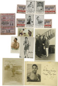 Boxing Collectibles:Memorabilia, Early Boxing Ephemera Lot of 34. Am impressive array of early boxing stars are seen here with this great lot of 34 vintage ...