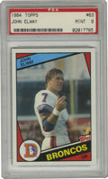 Football Cards:Singles (1970-Now), 1984 Topps John Elway #63 PSA Mint 9. Denver Broncos legend John Elway is shown here as he begins his NFL career for this '...