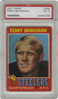 Football Cards:Singles (1970-Now), 1971 Topps Terry Bradshaw #156 PSA EX 5. Terry Bradshaw holds thedistinction of being the only quarterback to win four Sup...
