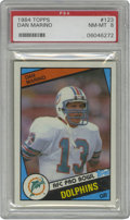 Football Cards:Singles (1970-Now), 1984 Topps Dan Marino #123 PSA NM-MT 8. Exceptional white borders and nice corners and edges make this fine rookie card fro...