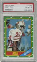 Football Cards:Singles (1970-Now), 1986 Topps Jerry Rice #161 PSA NM-MT 8. Future Hall of Famereceiver Jerry Rice provided a sure first option for both Joe M...