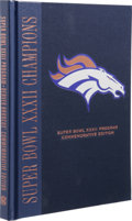 Football Collectibles:Others, John Elway Signed Super Bowl XXXII Commemorative Edition Program. Here we offer a Special hard-bound commemorative edition ...
