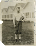Football Collectibles:Photos, Circa 1920s Red Grange Service Photograph with University ofIllinois Ephemera, Lot of 3. With a running style that likened...