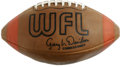 Baseball Collectibles:Others, 1970s World League Football. Great vintage football from the oldWorld League that operated between 1974-75 as a rebel leag...