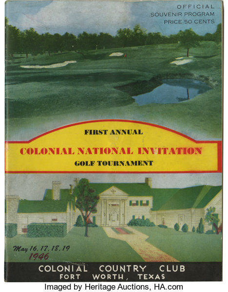 1946 Inaugural Colonial National Invitational Official  4720b6410f0