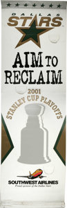 """Hockey Collectibles:Others, 2001 Dallas Stars Outdoor Playoffs Banner. Massive (8' 3"""" x 2' 7"""") outdoor display banner from the 2001 NHL playoff run tha..."""