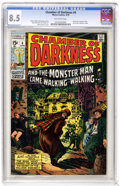 Bronze Age (1970-1979):Horror, Chamber of Darkness #4 (Marvel, 1970) CGC VF+ 8.5 Off-white pages.Featuring the Conan-like character Starr the Slayer, with...