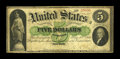 Large Size:Demand Notes, Fr. 1 $5 1861 Demand Note Fine....