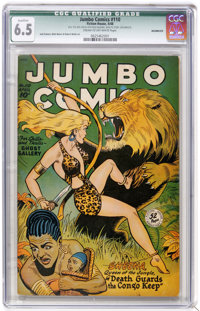 Jumbo Comics #110 (Fiction House, 1948) CGC Qualified FN+ 6.5 Cream to off-white pages. Jack Kamen, Matt Baker and Rober...