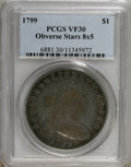 Early Dollars: , 1799 $1 8x5 Stars VF30 PCGS. PCGS Population (6/19). NGC Census:(0/0). (#6881)...