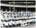Baseball Collectibles:Photos, 1957 New York Yankees Team Signed Oversized Photograph....