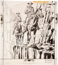 Original Comic Art:Covers, Charles Nicholas and Vince Alascia Outlaws of the West #15 Cover Original Art (Charlton, 1958)....