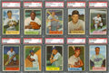 Baseball Cards:Lots, 1954 Bowman Baseball PSA Graded Collection (23) With Stars &#66 Piersall. ...