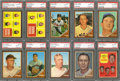 Baseball Cards:Lots, 1962 Topps Baseball PSA NM-MT 8 Graded Collection (18) With Stars....