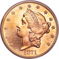 Liberty Double Eagles, 1871 $20 MS64 PCGS....