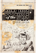 Original Comic Art:Covers, Charles Nicholas and Vince Alascia Outlaws of the West #20Cover Original Art (Charlton, 1959)....