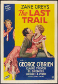"Movie Posters:Western, The Last Trail (Fox, 1933). One Sheet (27"" X 41""). Western.. ..."