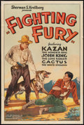 """Movie Posters:Western, Outlaw's Highway (Sherman S. Krellberg, R-1940s). One Sheet (27"""" X 41"""") Also Known As """"Fighting Fury."""" Western.. ..."""