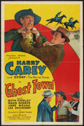 "Movie Posters:Western, Ghost Town (Commodore, 1936). One Sheet (27"" X 41""). Western.. ..."