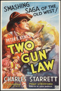 """Movie Posters:Western, Two Gun Law (Columbia, 1937). One Sheet (26.5"""" X 40.25""""). Western....."""
