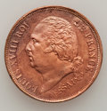 French Colonies, French Colonies: Louis XVIII copper Essai 5 Centimes 1824A,...
