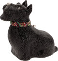Luxury Accessories:Bags, Judith Leiber Special Black Scottish Terrier Full Bead Minaudiere Evening Bag. ...