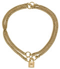 Luxury Accessories:Accessories, Hermes Extremely Rare 18K Gold Signature Cadena Lock 2-way BraceletNecklace. ...