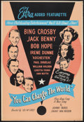 """Movie Posters:Short Subject, You Can Change the World (The Christophers, 1952). Silk ScreenedOne Sheet (28"""" X 41""""). Short Subject.. ..."""