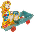 Memorabilia:Disney, Strutter Donald Duck Pull Toy (Walt Disney/Fisher-Price, 1941)....
