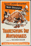 """Movie Posters:Animated, Thanksgiving Day Mirthquakes (RKO, R-1953). One Sheet (27"""" X 41"""") Style A. Animated.. ..."""
