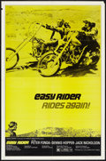 "Movie Posters:Drama, Easy Rider (Columbia, R-1972). One Sheet (27"" X 41""). Drama.. ..."