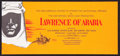 "Movie Posters:Academy Award Winners, Lawrence of Arabia Lot (Columbia, 1962). Premiere Tickets (7) (5"" X7"" - 8.5"" X 8.5"") Ticket Order Form (8.5"" X 18""), Progra... (Total:11 Items)"