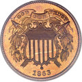 Patterns, 1863 2C Two Cents, Judd-312, Pollock-377, R.4, PR65 Red PCGS....
